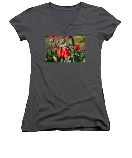 Dancing Gal Women's V-Neck T-Shirt (Junior Cut)