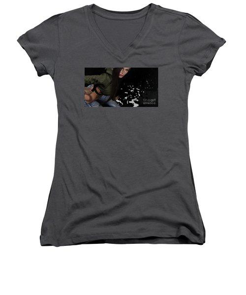 Dancing In The Rain 2 Women's V-Neck T-Shirt