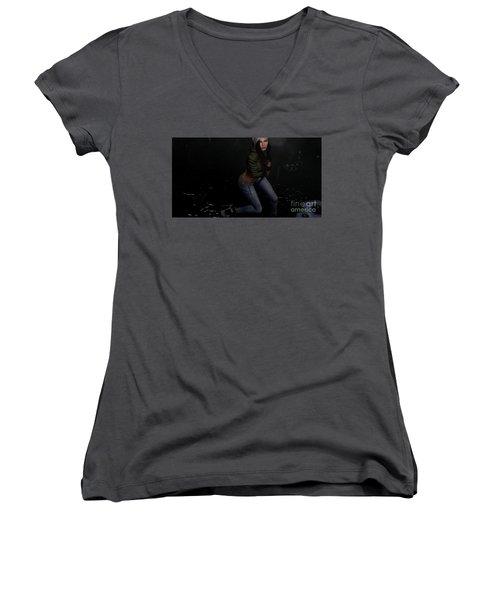 Dancing In The Rain 5 Women's V-Neck T-Shirt
