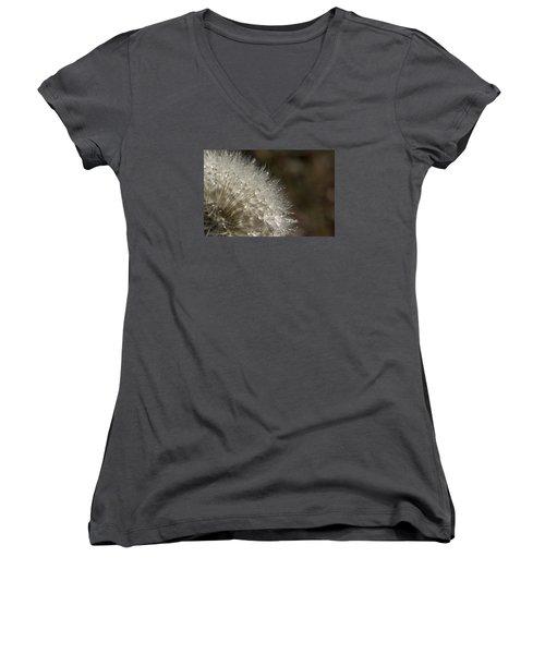 Dandelion Rain Women's V-Neck T-Shirt (Junior Cut) by Shelly Gunderson