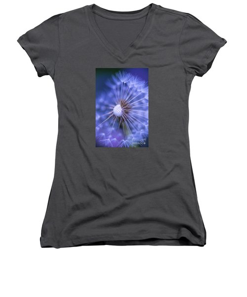 Dandelion Wish Women's V-Neck (Athletic Fit)