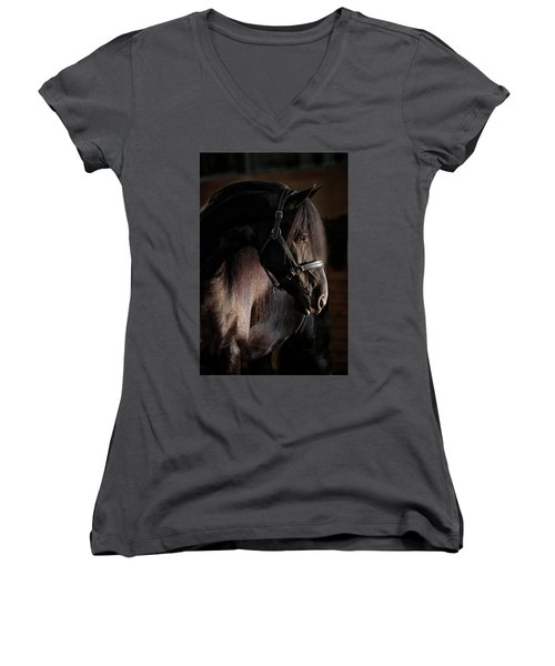 Dark Beauty Women's V-Neck T-Shirt