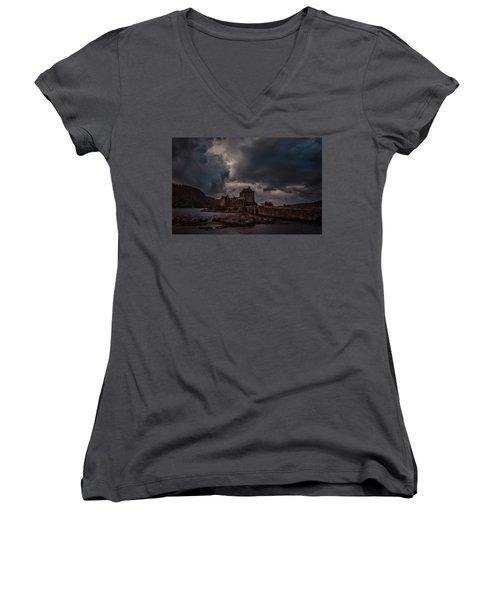 Dark Clouds #h2 Women's V-Neck