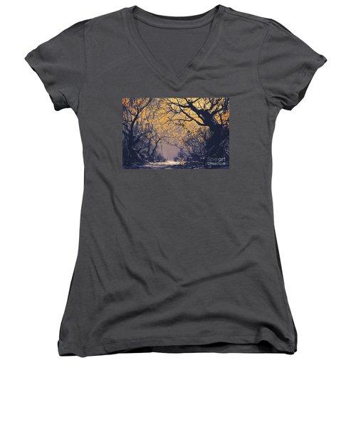 Dark Forest Women's V-Neck