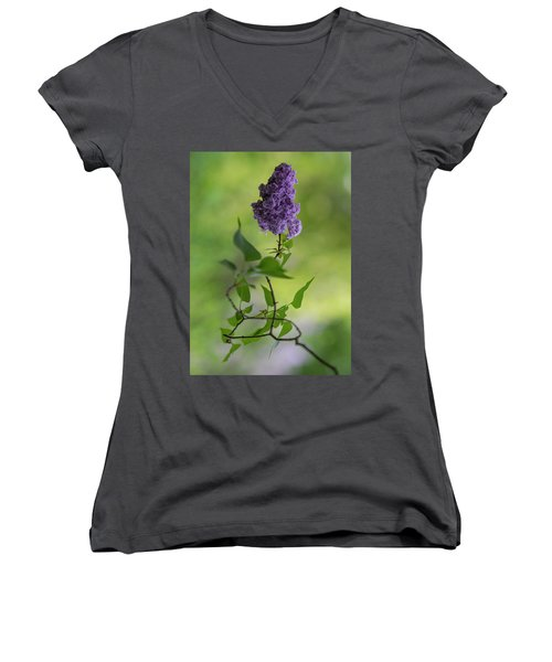 Dark Violet Lilac Women's V-Neck
