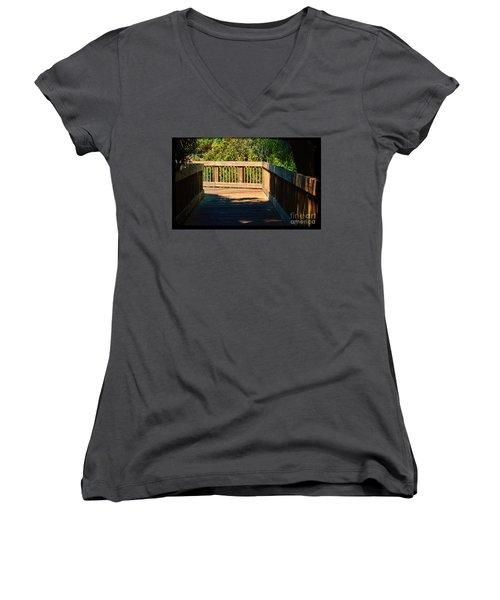 Darkness To Light Women's V-Neck T-Shirt (Junior Cut) by Pamela Blizzard