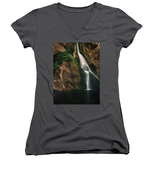 Darwin Falls - Death Valley Women's V-Neck (Athletic Fit)