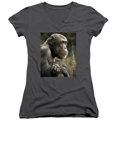 Dave Women's V-Neck (Athletic Fit)