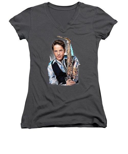 Dave Koz Women's V-Neck T-Shirt