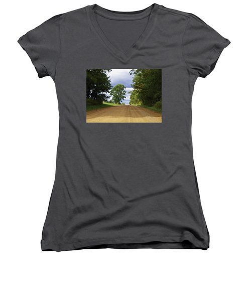 Davis Hill Rd. Women's V-Neck T-Shirt