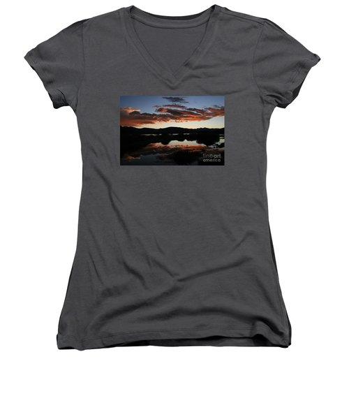 Dawn At Lake Dillon Women's V-Neck T-Shirt