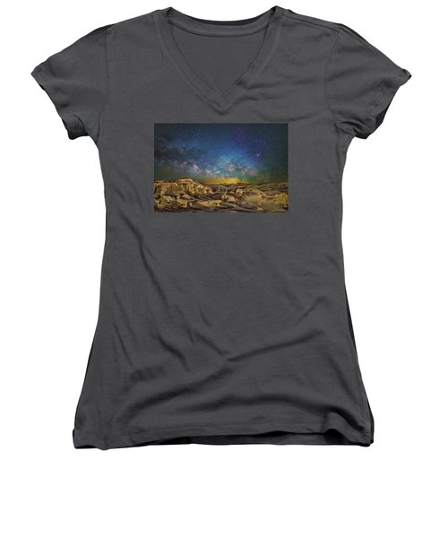 Dawn Of The Universe Women's V-Neck
