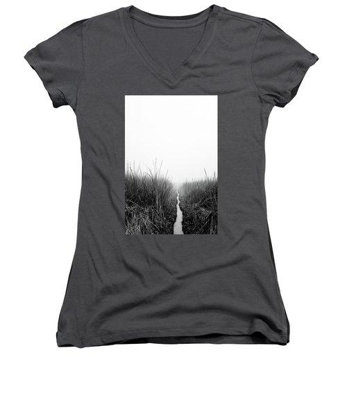 Dawn On Back Bay  Women's V-Neck T-Shirt
