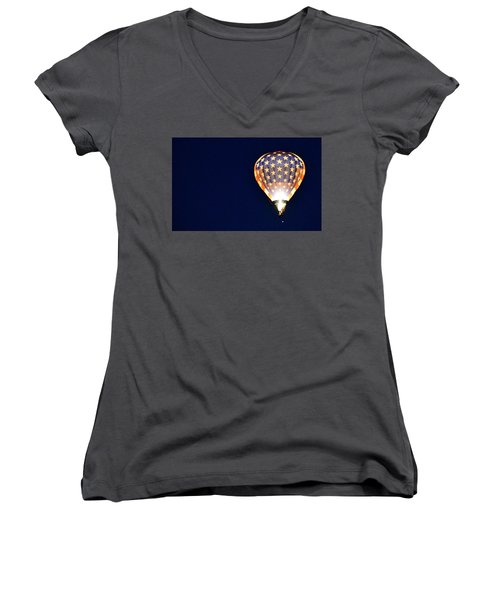 Women's V-Neck featuring the photograph Dawns Early Light by AJ Schibig