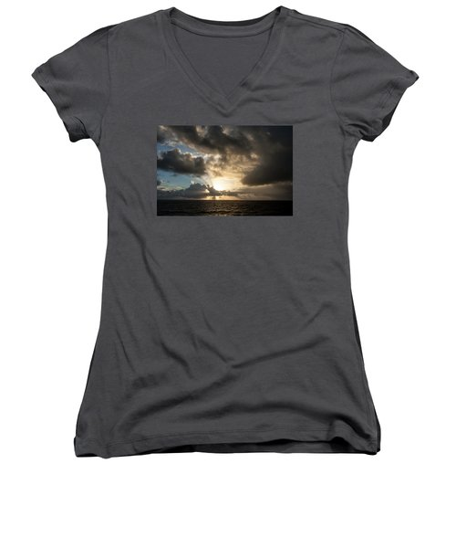Day Break Women's V-Neck T-Shirt (Junior Cut) by Allen Carroll
