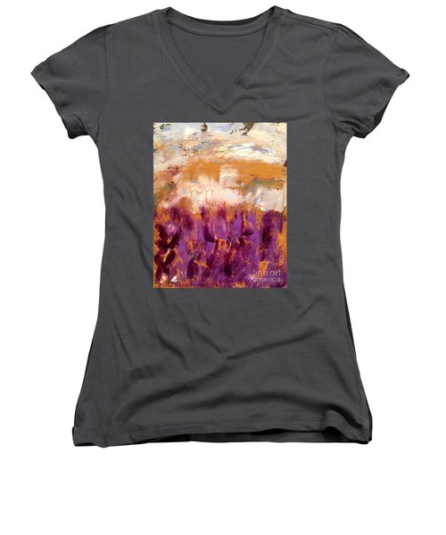 Day Dreammin Women's V-Neck T-Shirt (Junior Cut) by Gallery Messina
