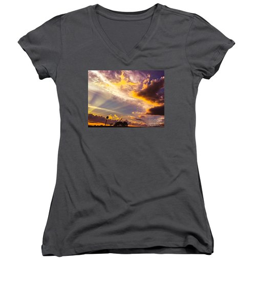 Daybreak Women's V-Neck T-Shirt (Junior Cut) by MaryLee Parker