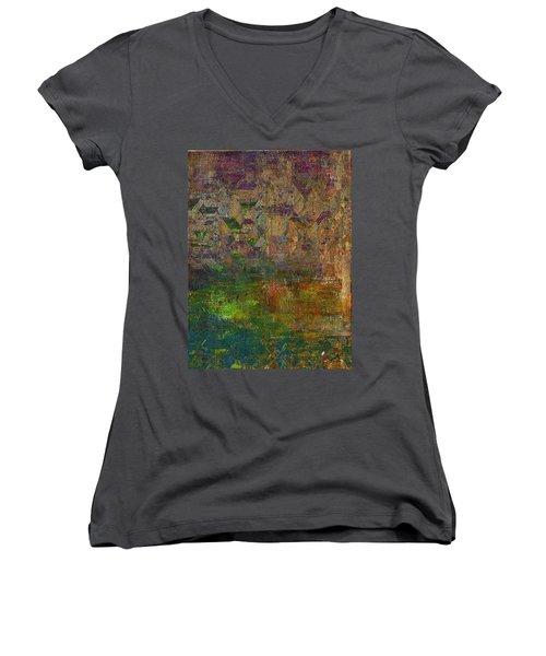 Daybreak Women's V-Neck T-Shirt (Junior Cut) by The Art Of JudiLynn