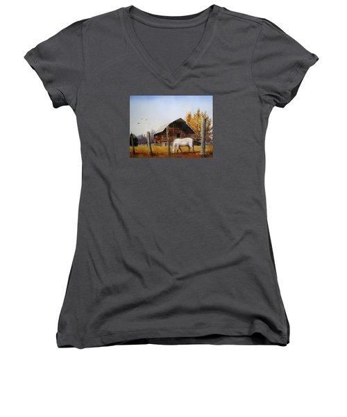 Days Gone By Women's V-Neck T-Shirt