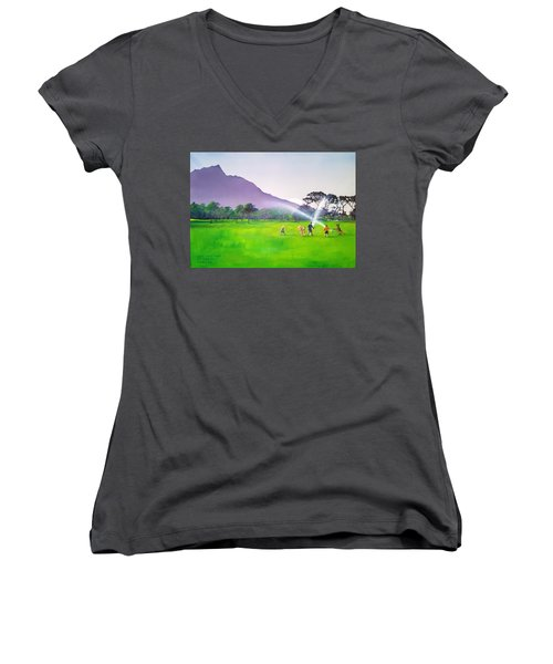 Days Like This Women's V-Neck T-Shirt (Junior Cut) by Tim Johnson