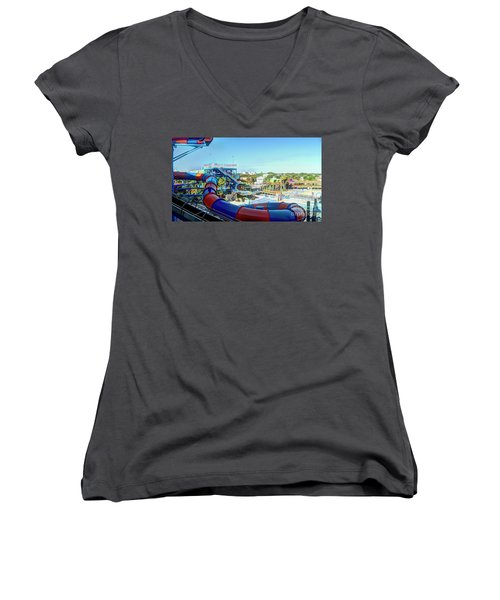 Daytona Lagoon Women's V-Neck T-Shirt
