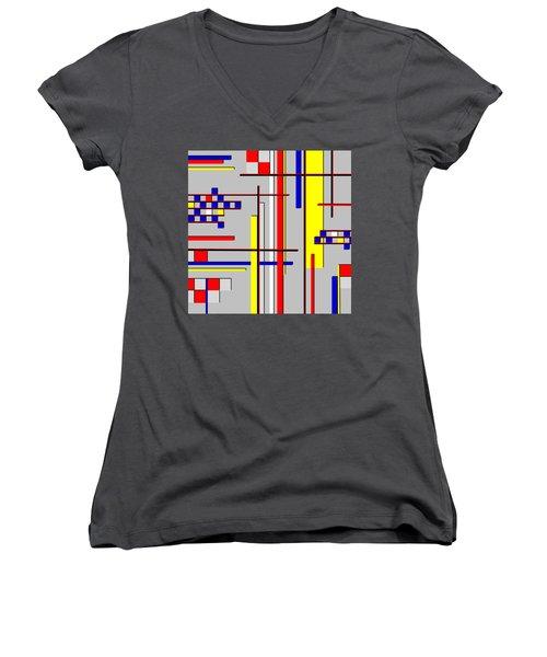 De Stijl Love Women's V-Neck T-Shirt (Junior Cut) by Tara Hutton