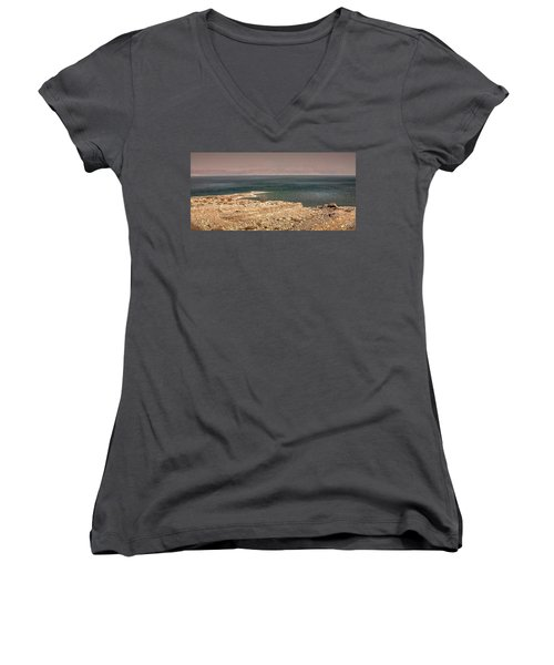 Dead Sea Coastline 1 Women's V-Neck