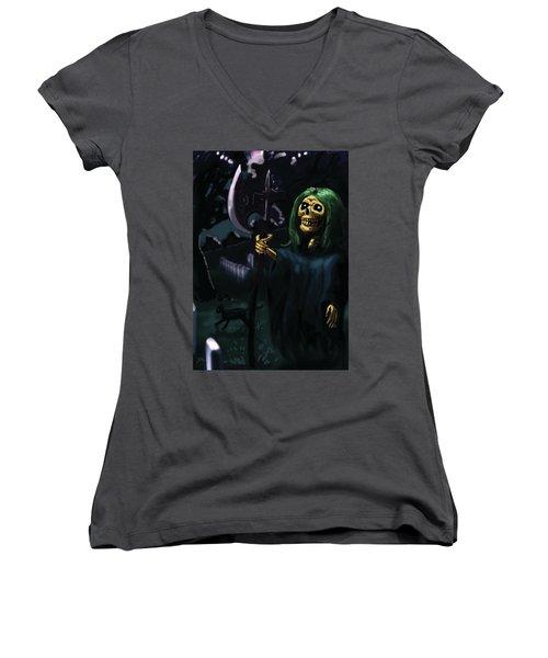 Death Women's V-Neck (Athletic Fit)