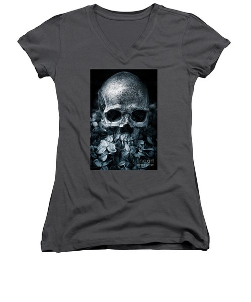 Women's V-Neck T-Shirt featuring the photograph Death Comes To Us All by Edward Fielding