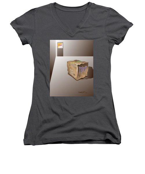 Death Of Trust Women's V-Neck T-Shirt