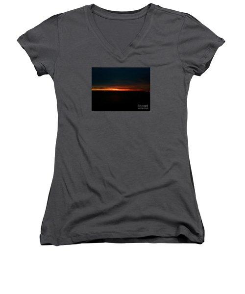 December Dawn,  Rays Of Hope  Women's V-Neck T-Shirt (Junior Cut)