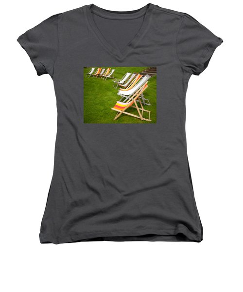 Deck Chairs Women's V-Neck