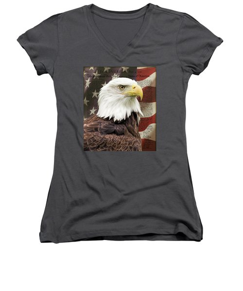 Declaration Of Independence Women's V-Neck T-Shirt