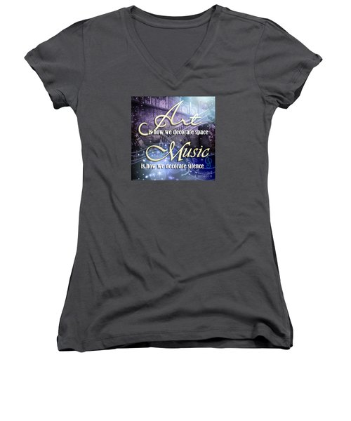 Decorate Women's V-Neck T-Shirt (Junior Cut)