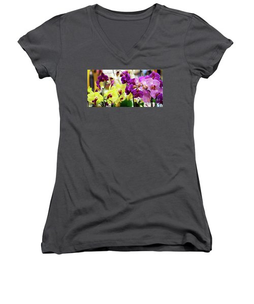 Decorative Orchids Still Life C82418 Women's V-Neck