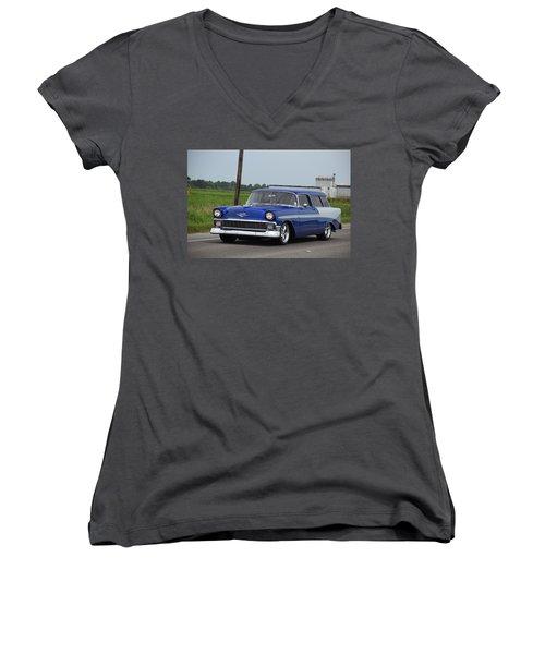 Deep Cajun Heavy Chevy Women's V-Neck T-Shirt