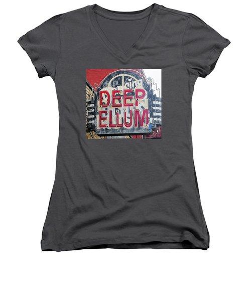 Deep Ellum Dallas Texas Women's V-Neck