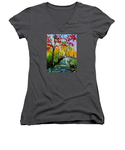 Deer Crossing Women's V-Neck
