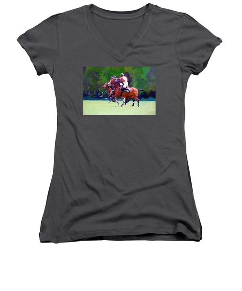 Women's V-Neck featuring the photograph Defend by Alice Gipson