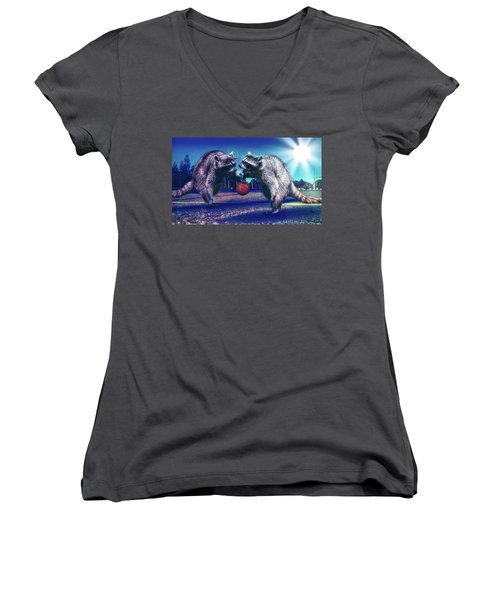 Defense Women's V-Neck T-Shirt (Junior Cut)