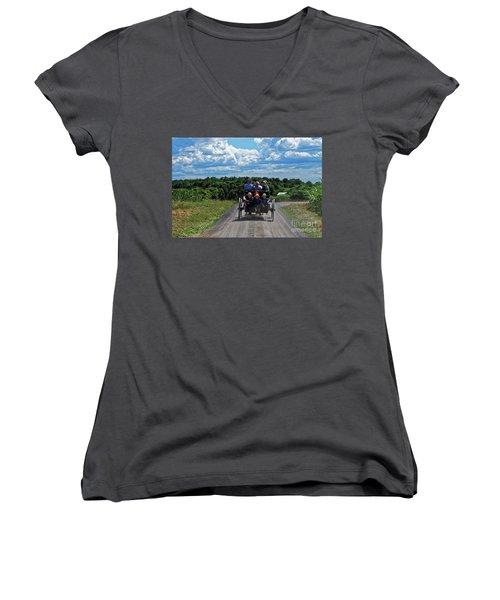 Delano Children Women's V-Neck T-Shirt (Junior Cut) by Paul Mashburn