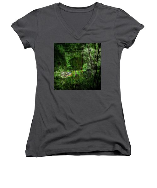 Delaware Green Women's V-Neck T-Shirt