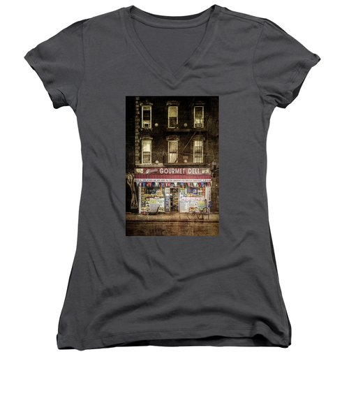 Women's V-Neck T-Shirt (Junior Cut) featuring the photograph Delightful by Russell Styles