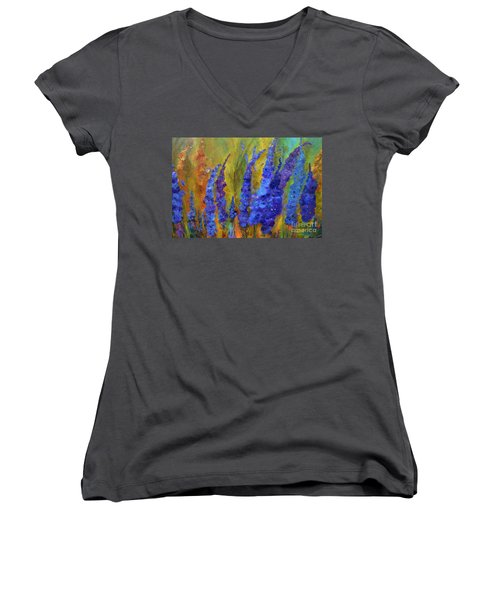 Delphiniums Women's V-Neck