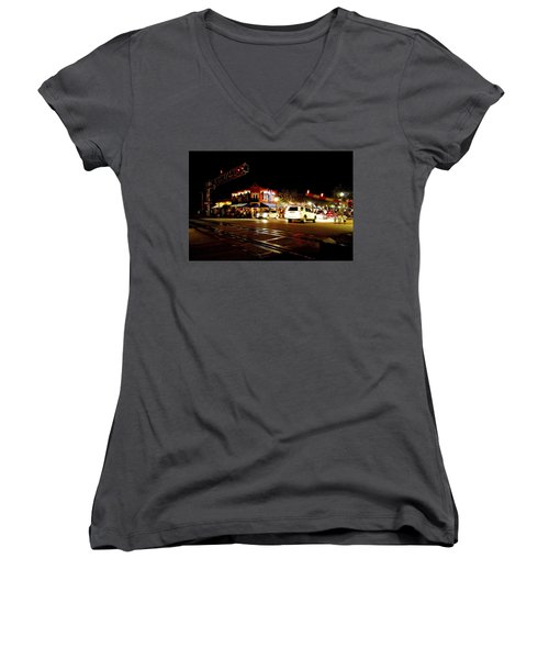 Delray Beach Railroad Crossing Women's V-Neck T-Shirt