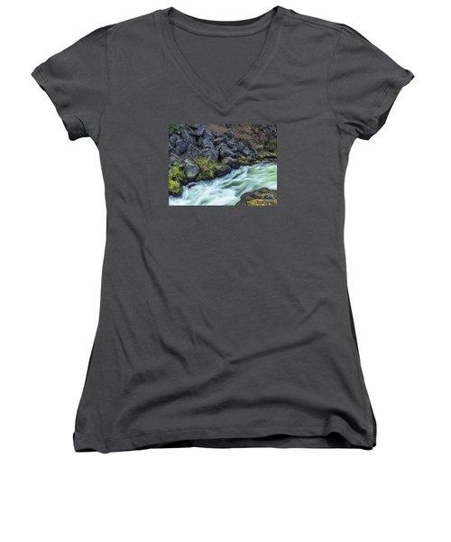 Deluge At The Falls Women's V-Neck T-Shirt