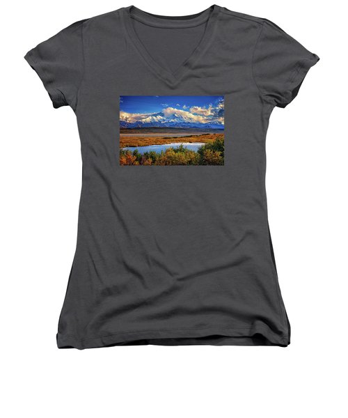 Denali, The High One Women's V-Neck (Athletic Fit)