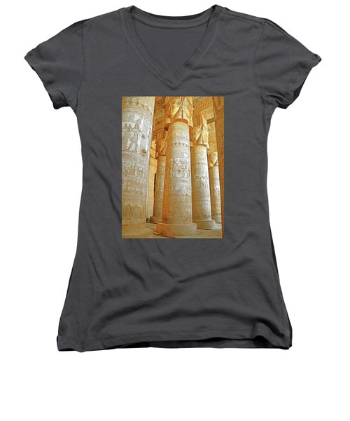 Dendera Temple Women's V-Neck