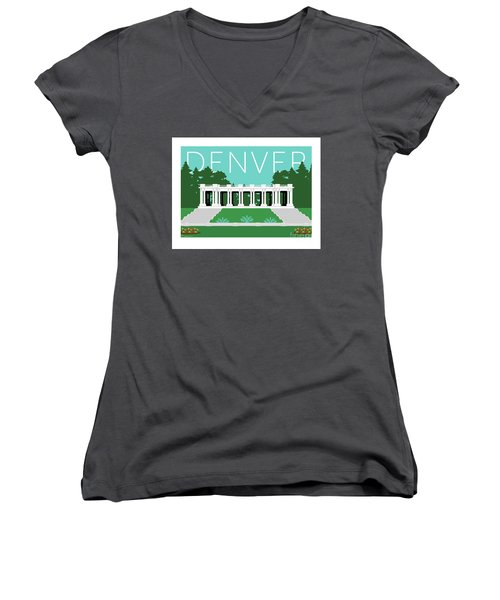 Denver Cheesman Park/lt Blue Women's V-Neck (Athletic Fit)