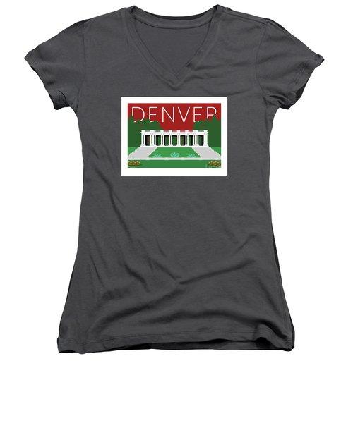 Denver Cheesman Park/maroon Women's V-Neck